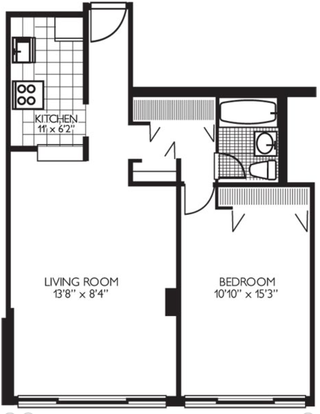 Studio 1 Bathroom Apartment for rent at 1330 N Dearborn in Chicago, IL