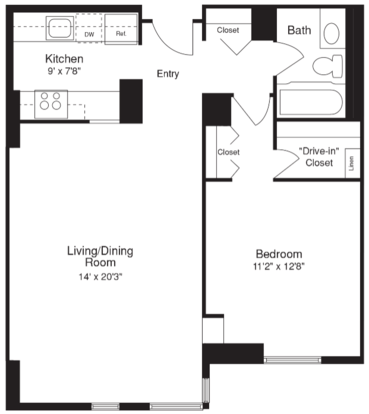 1 Bedroom 1 Bathroom Apartment for rent at 100 W. Chestnut in Chicago, IL