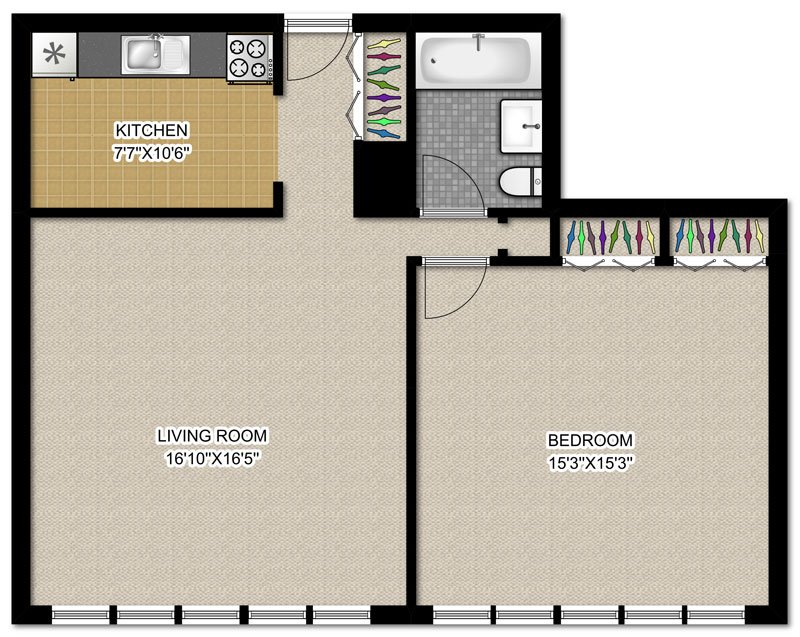 1 Bedroom 1 Bathroom Apartment for rent at 3130 N. Lake Shore Dr in Chicago, IL