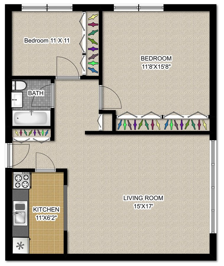 2 Bedrooms 1 Bathroom Apartment for rent at 3130 N. Lake Shore Dr in Chicago, IL