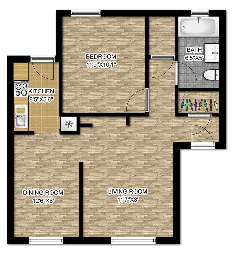 1 Bedroom 1 Bathroom Apartment for rent at 632-642 W Cornelia in Chicago, IL