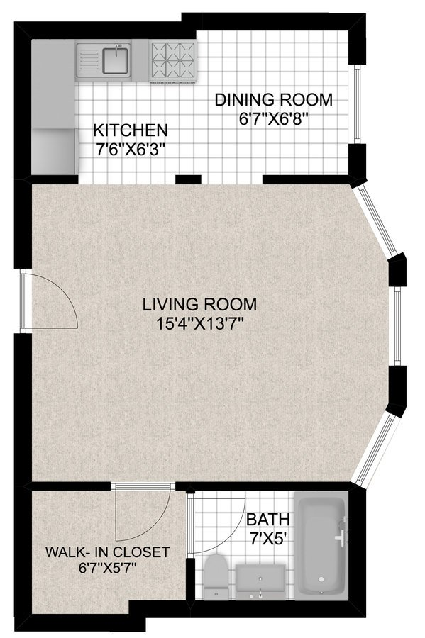 Studio 1 Bathroom Apartment for rent at 430 W. Diversey in Chicago, IL