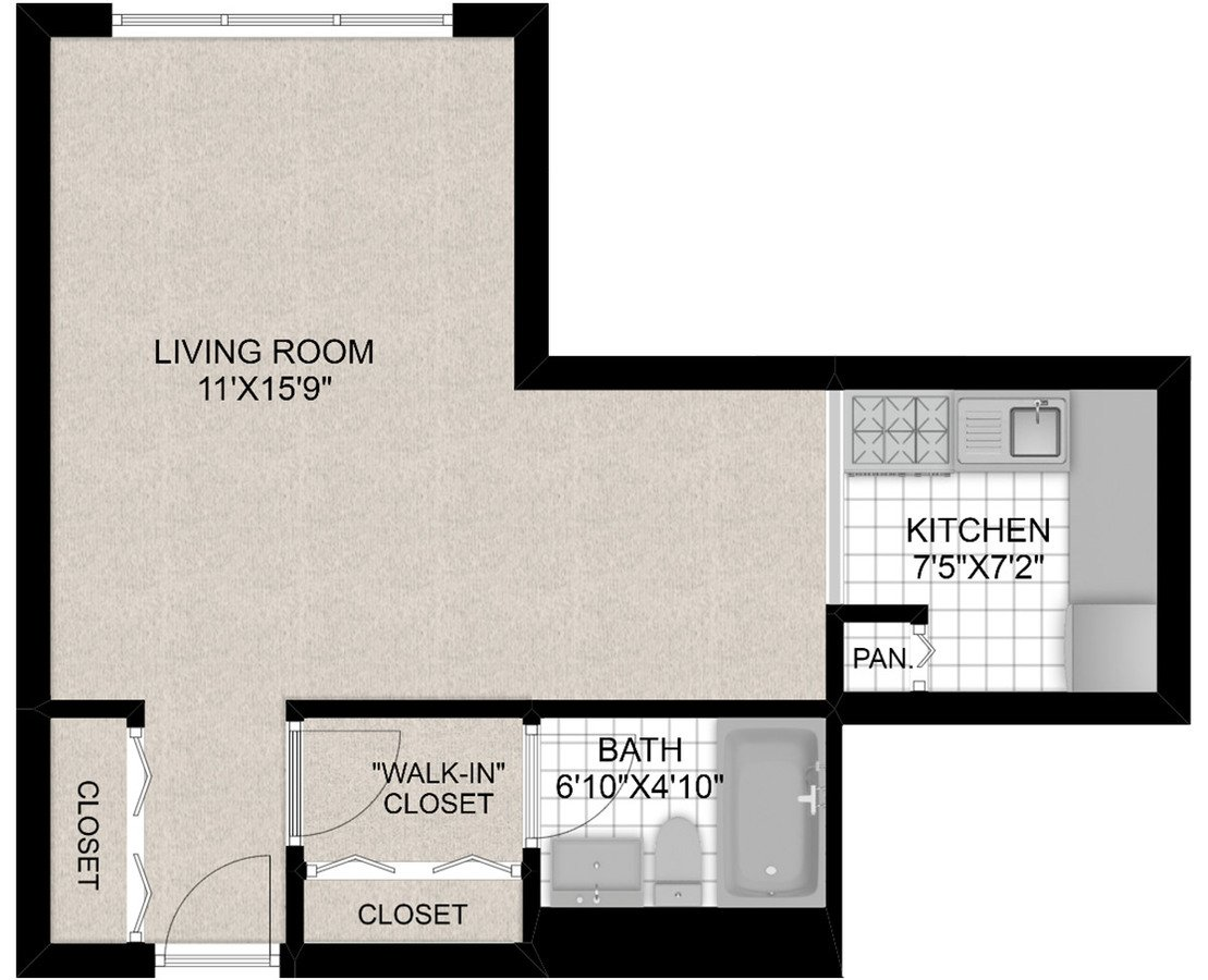 Studio 1 Bathroom Apartment for rent at 441 W. Barry in Chicago, IL