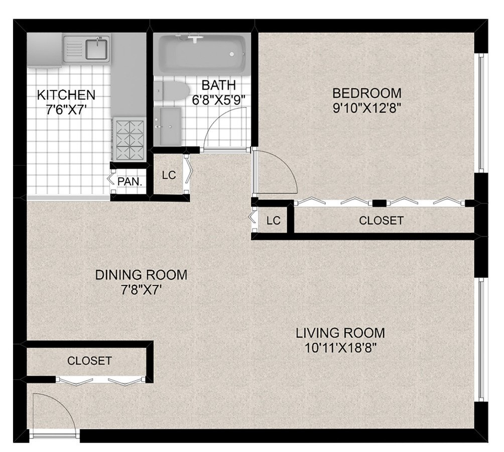 1 Bedroom 1 Bathroom Apartment for rent at 515 W. Barry in Chicago, IL