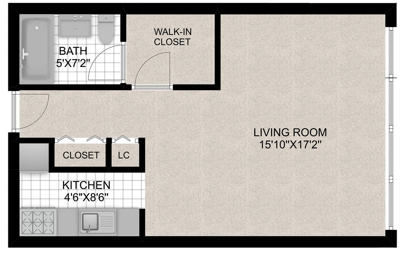 Studio 1 Bathroom Apartment for rent at 350 W. Oakdale in Chicago, IL