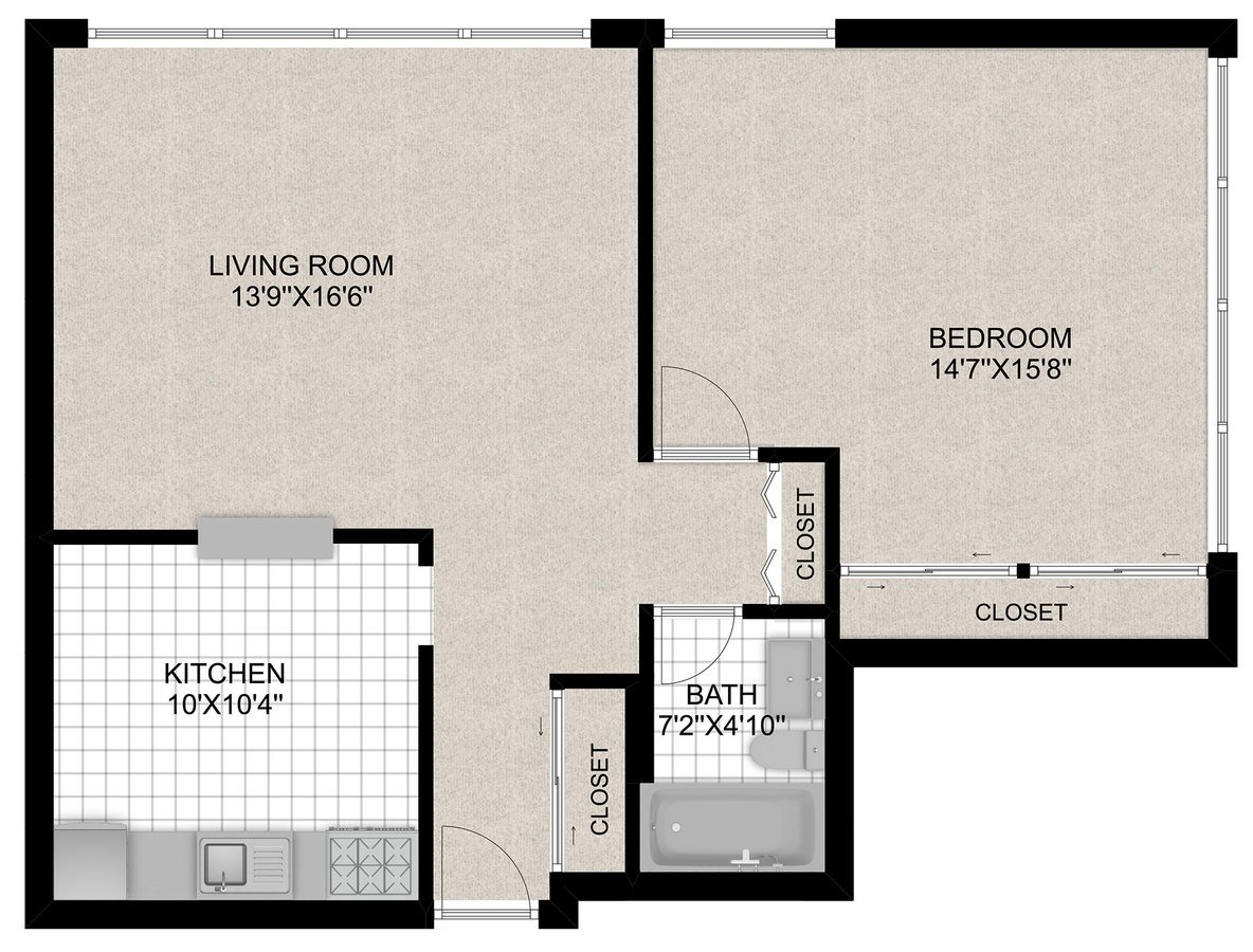 1 Bedroom 1 Bathroom Apartment for rent at 350 W. Oakdale in Chicago, IL