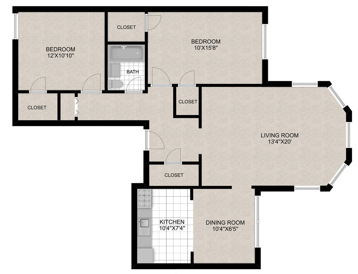 2 Bedrooms 1 Bathroom Apartment for rent at 430 W. Diversey in Chicago, IL