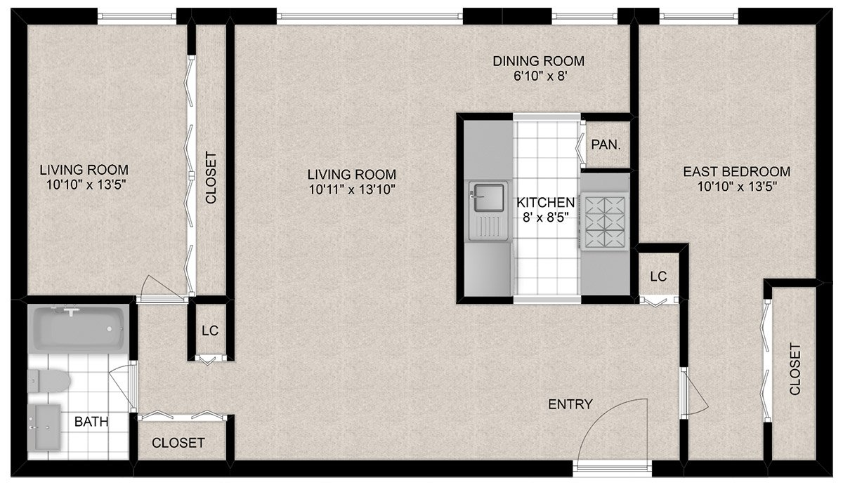 2 Bedrooms 1 Bathroom Apartment for rent at 441 W. Barry in Chicago, IL