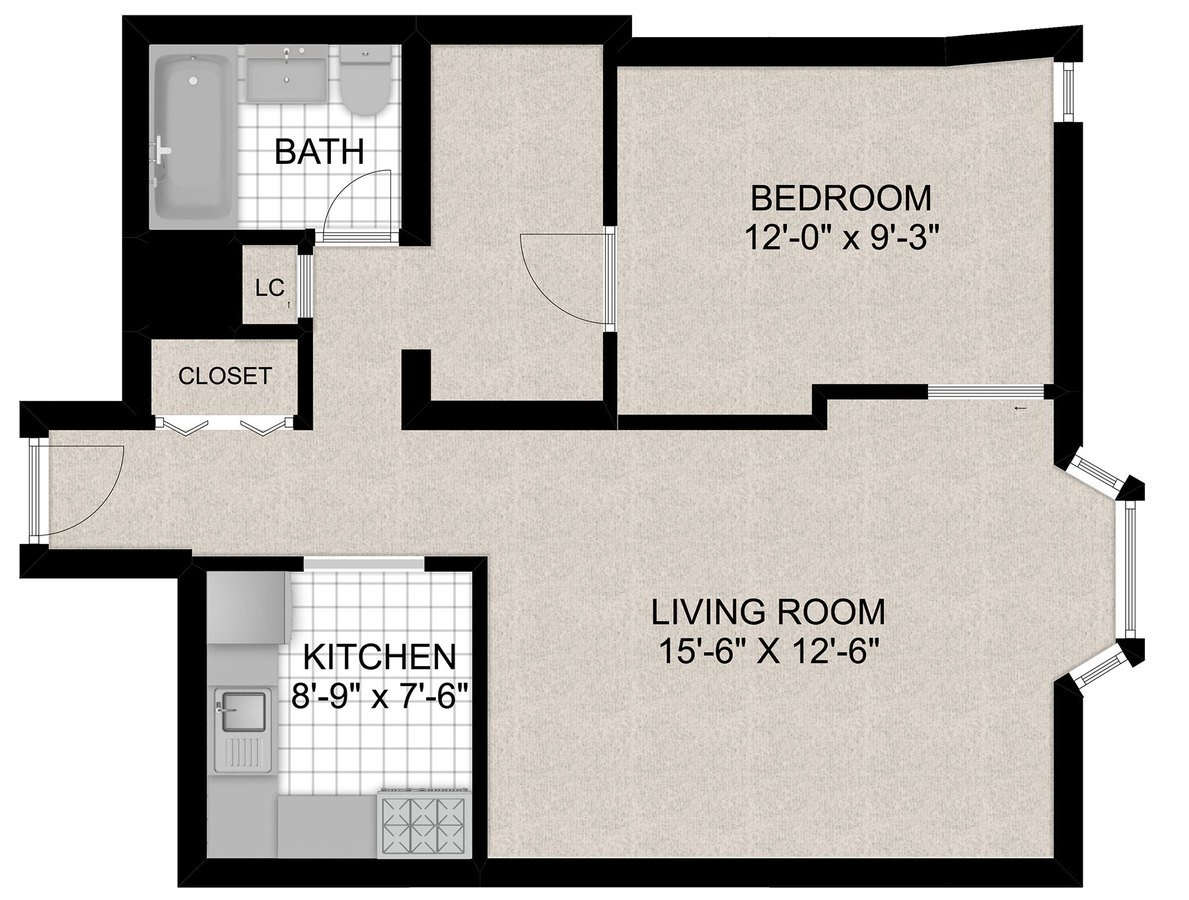 1 Bedroom 1 Bathroom Apartment for rent at 55 W Chestnut in Chicago, IL