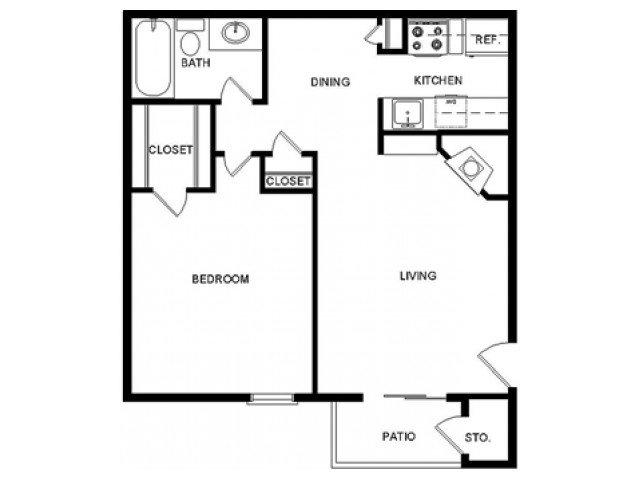 1 Bedroom 1 Bathroom Apartment for rent at Mccallum Highlands in Dallas, TX