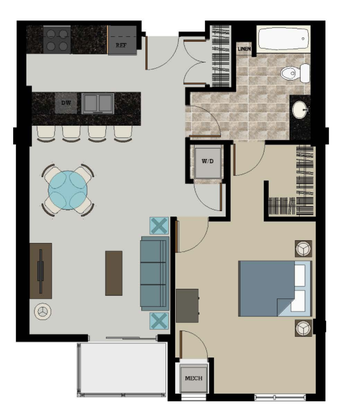 1 Bedroom 1 Bathroom Apartment for rent at 306 West in Madison, WI