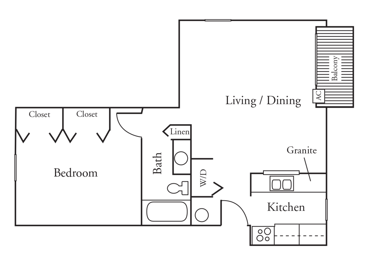 1 Bedroom 1 Bathroom Apartment for rent at High Point Woods in Madison, WI