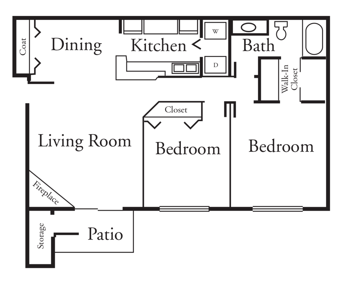 2 Bedrooms 1 Bathroom Apartment for rent at High Point Woods in Madison, WI