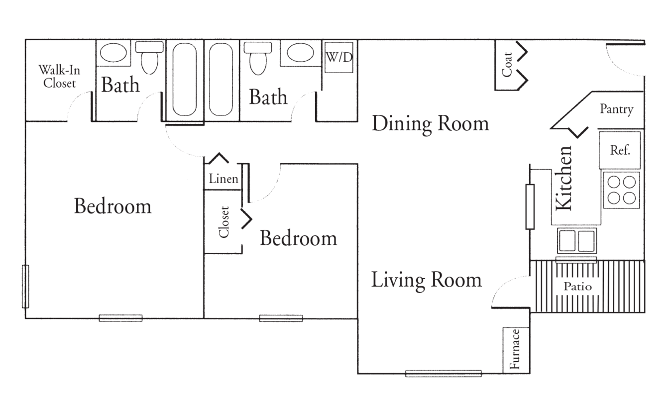 2 Bedrooms 2 Bathrooms Apartment for rent at High Point Woods in Madison, WI
