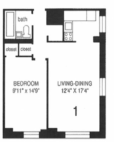 1 Bedroom 1 Bathroom Apartment for rent at The Park Dearborn in Chicago, IL