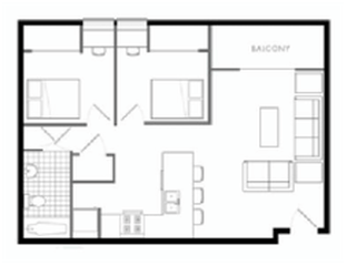 2 Bedrooms 1 Bathroom Apartment for rent at 903 S. First in Champaign, IL