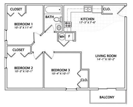 3 Bedrooms 1 Bathroom Apartment for rent at 201 E Armory in Champaign, IL