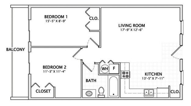 2 Bedrooms 1 Bathroom Apartment for rent at 201 E Armory in Champaign, IL