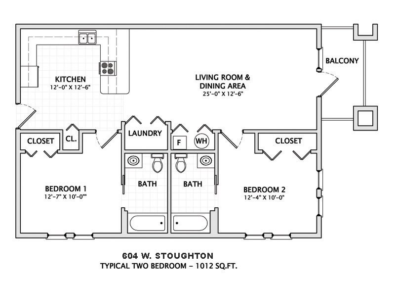 2 Bedrooms 2 Bathrooms House for rent at 604 W. Stoughton in Urbana, IL