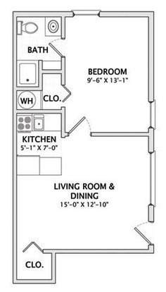 1 Bedroom 1 Bathroom Apartment for rent at 610 W. Stoughton in Urbana, IL