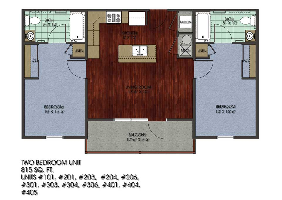 2 Bedrooms 1 Bathroom Apartment for rent at 53 E Chalmers in Champaign, IL