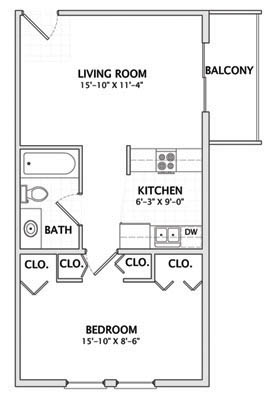 1 Bedroom 1 Bathroom Apartment for rent at 1012 W. Clark in Urbana, IL