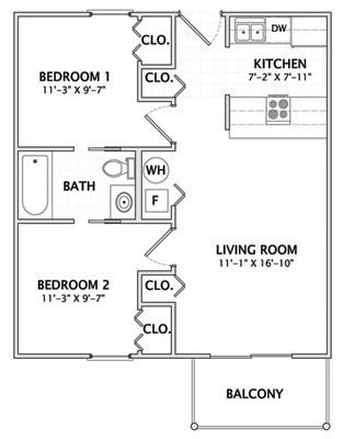 2 Bedrooms 1 Bathroom Apartment for rent at 1004 S Locust in Champaign, IL
