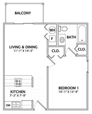 1 Bedroom 1 Bathroom Apartment for rent at 1004 S Locust in Champaign, IL