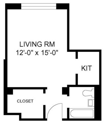 Studio 1 Bathroom Apartment for rent at 2970 N Sheridan in Chicago, IL