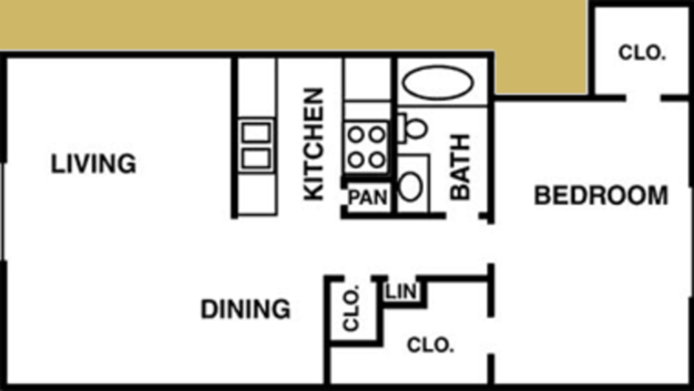 1 Bedroom 1 Bathroom Apartment for rent at Oaks Of Charleston in Houston, TX