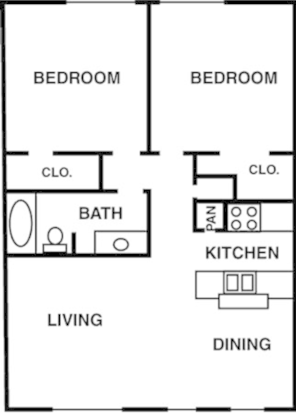 2 Bedrooms 1 Bathroom Apartment for rent at Oaks Of Charleston in Houston, TX