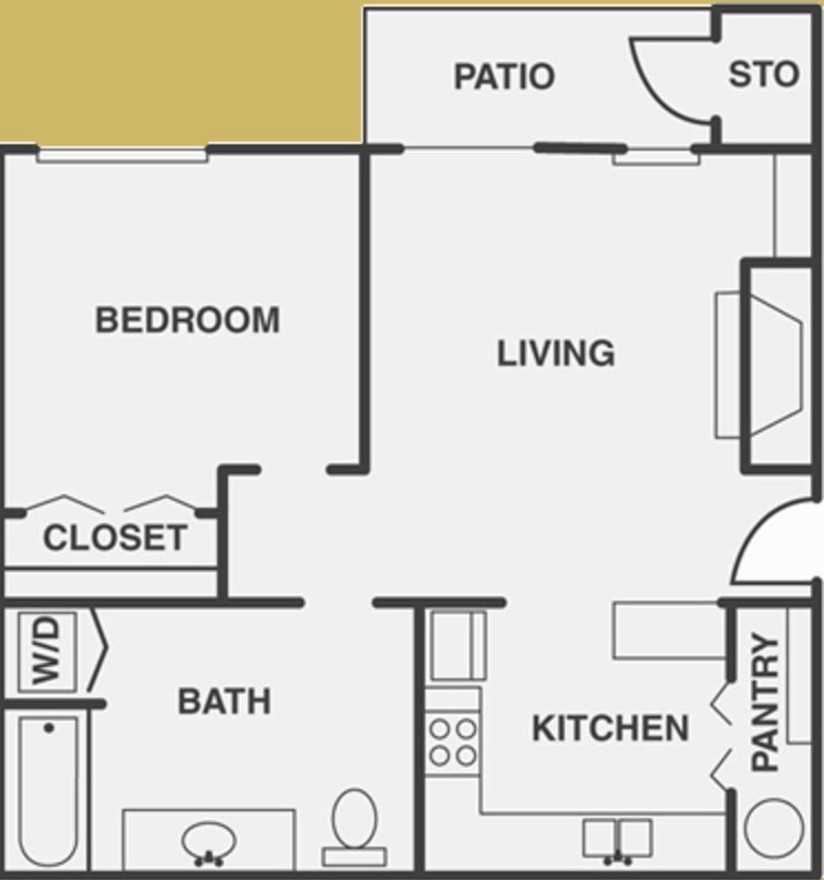 1 Bedroom 1 Bathroom Apartment for rent at Parkford Oaks in Dallas, TX