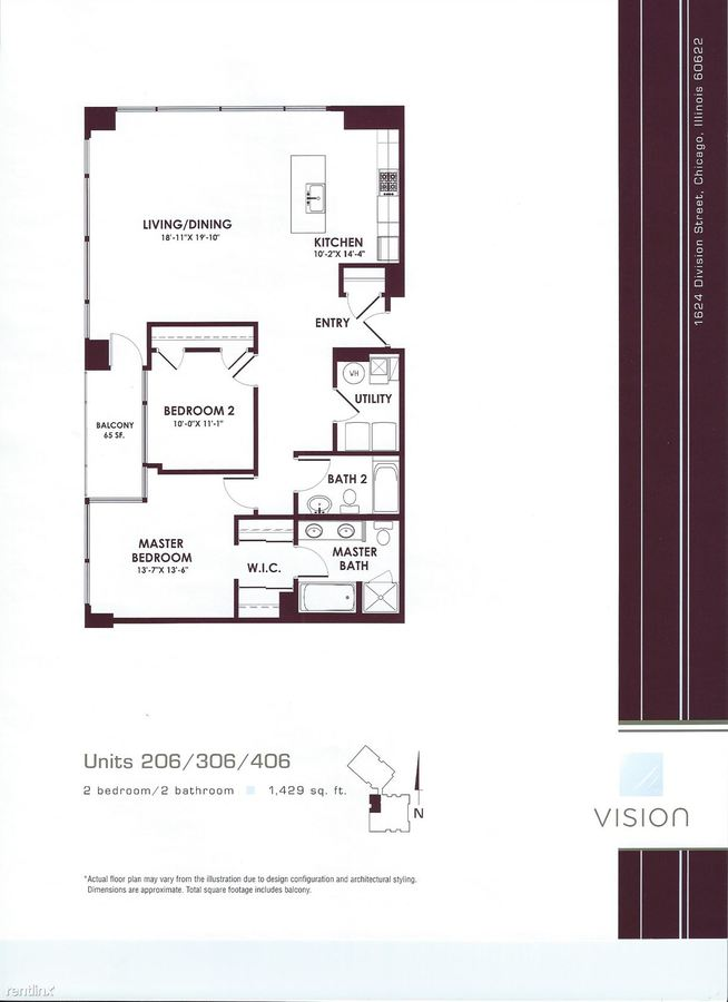 2 Bedrooms 2 Bathrooms Apartment for rent at 1624 W Division St in Chicago, IL