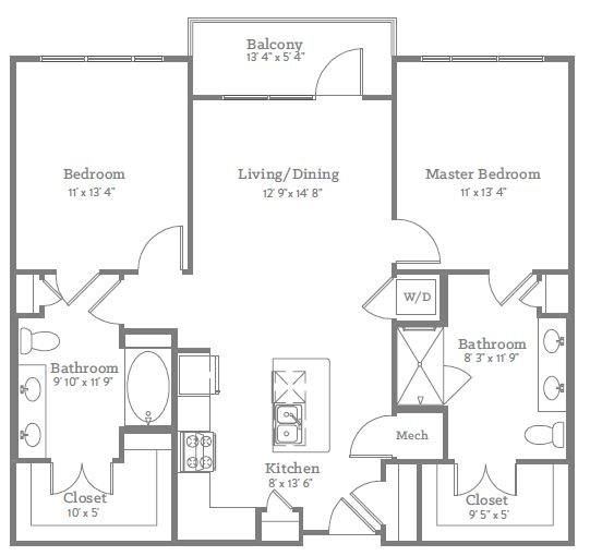 2 Bedrooms 2 Bathrooms Apartment for rent at The Place On Ponce in Decatur, GA