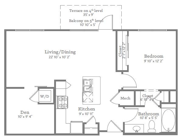 1 Bedroom 1 Bathroom Apartment for rent at The Place On Ponce in Decatur, GA
