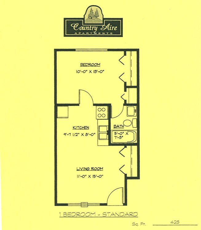 1 Bedroom 1 Bathroom Apartment for rent at Country Aire Apartments in Hartland, WI