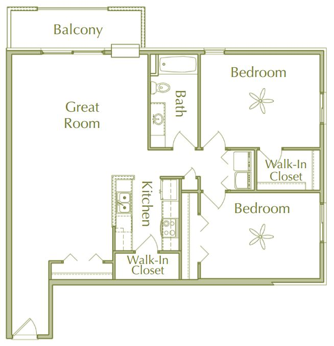 2 Bedrooms 1 Bathroom Apartment for rent at Hidden Ponds Apartments in Pewaukee, WI