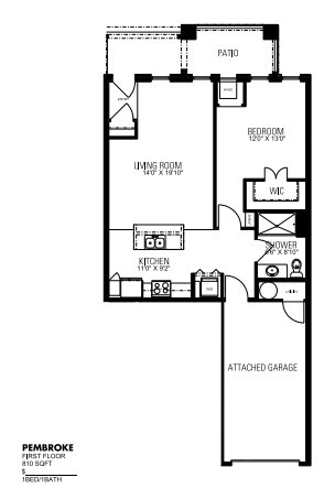 1 Bedroom 1 Bathroom Apartment for rent at Lincolnshire Place in Wales, WI