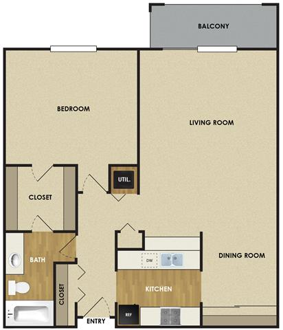 1 Bedroom 1 Bathroom Apartment for rent at The Woodlands Of Minnetonka in Minnetonka, MN