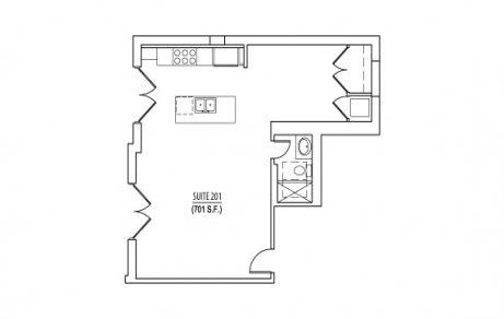 Studio 1 Bathroom Apartment for rent at The Dennison in Columbus, OH