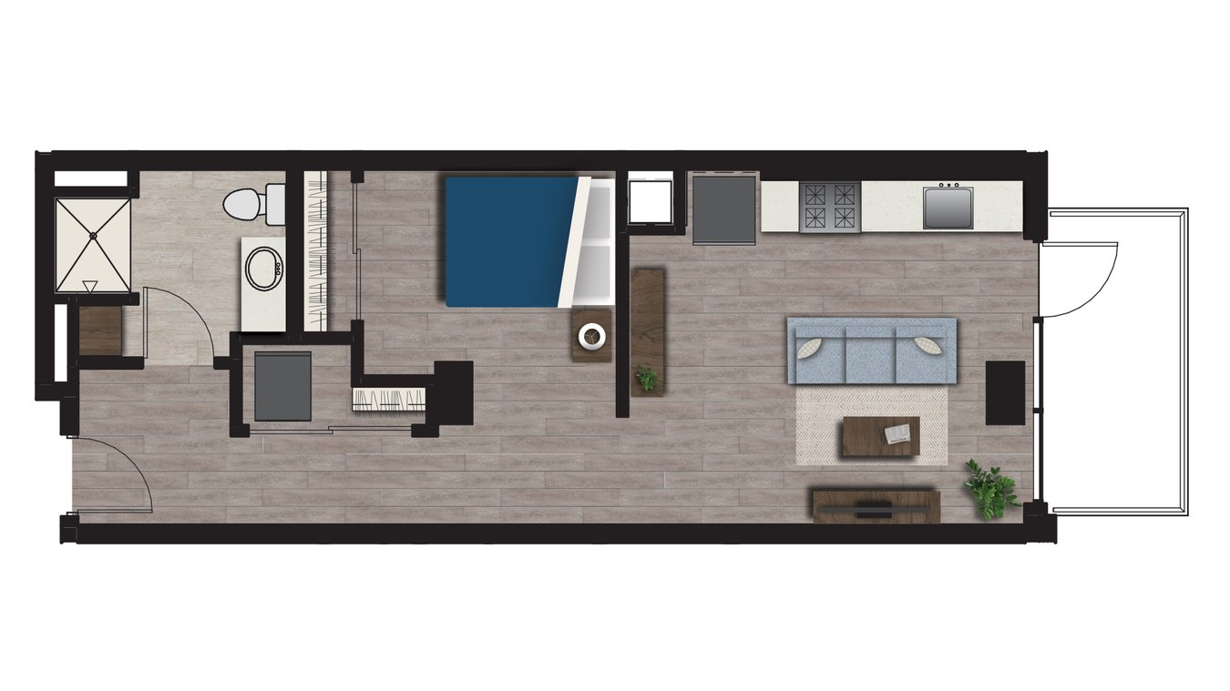 Studio 1 Bathroom Apartment for rent at Arden in Madison, WI