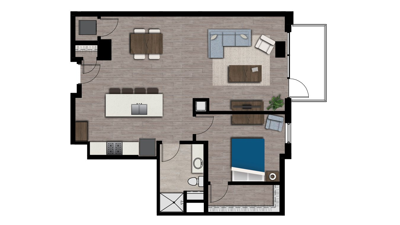 1 Bedroom 1 Bathroom Apartment for rent at Arden in Madison, WI