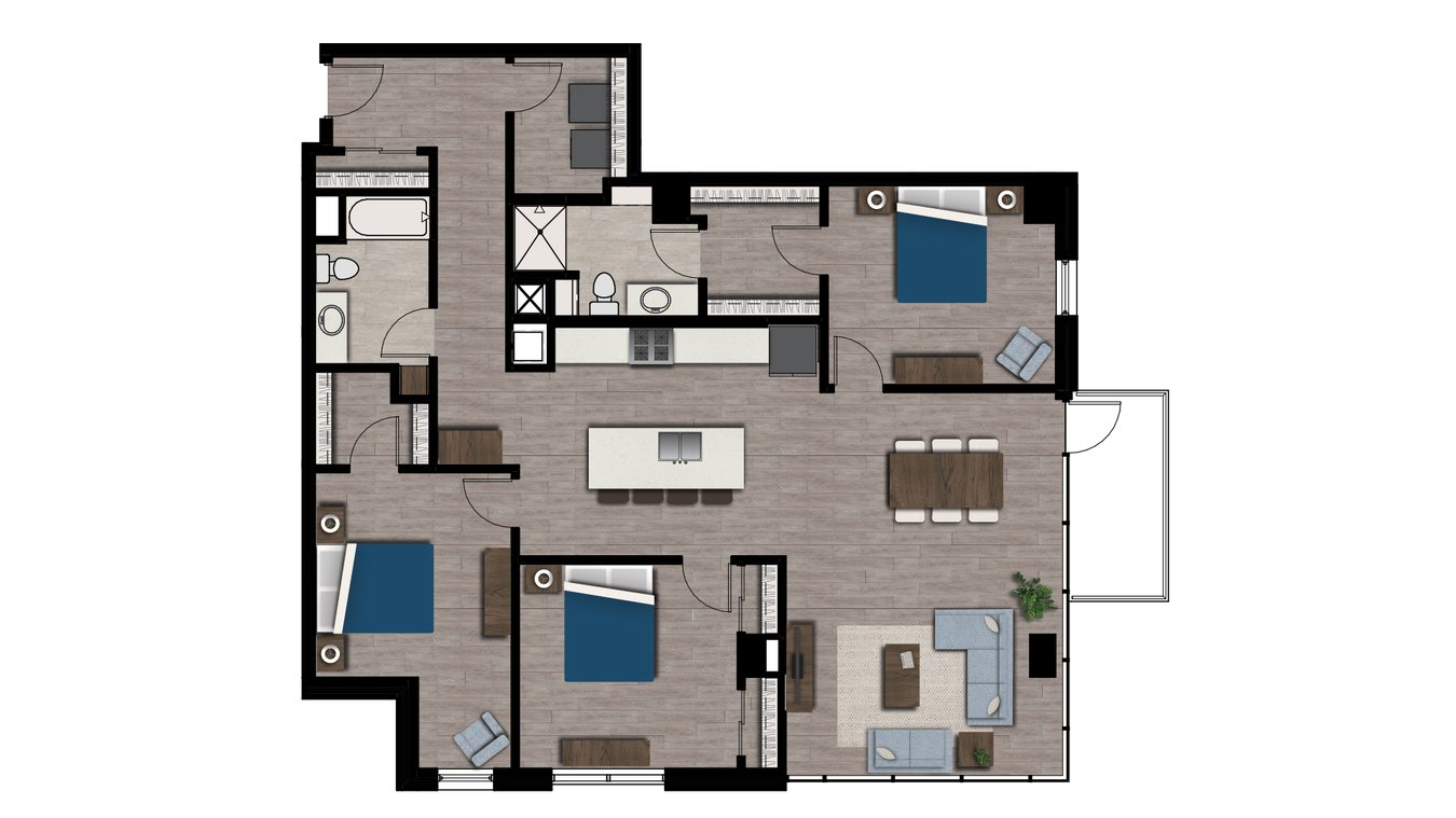3 Bedrooms 2 Bathrooms Apartment for rent at Arden in Madison, WI