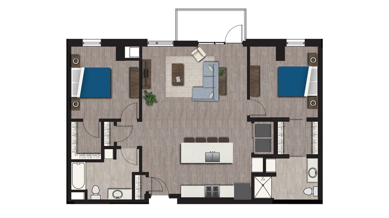 2 Bedrooms 2 Bathrooms Apartment for rent at Arden in Madison, WI