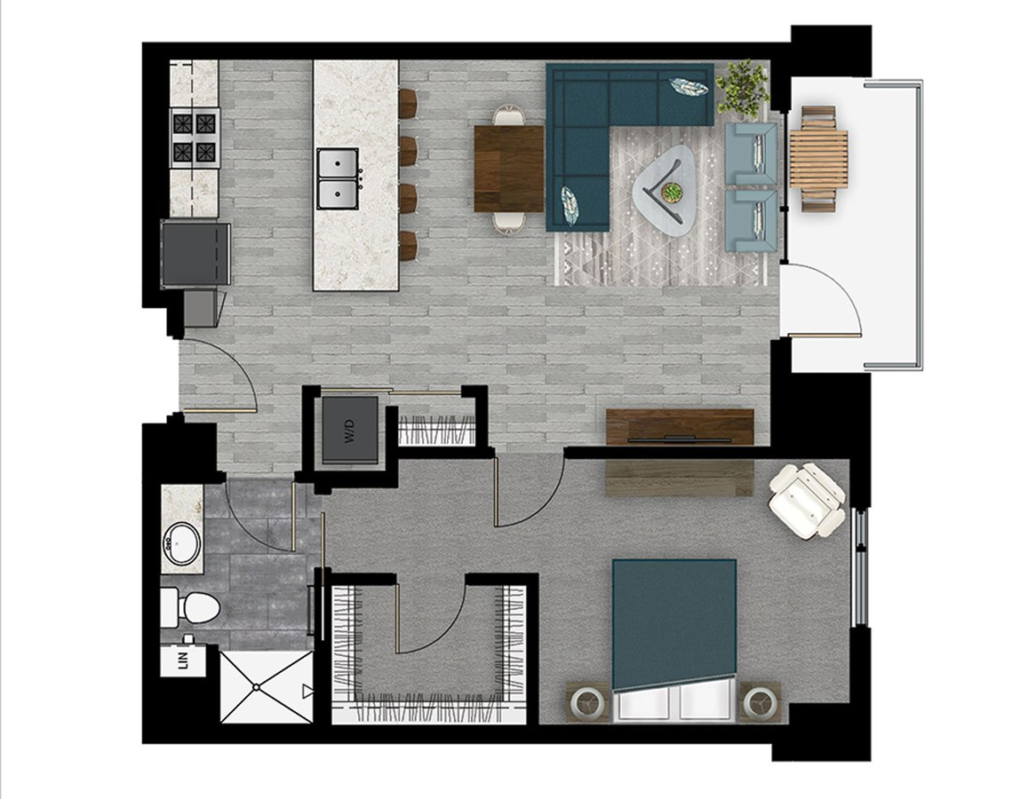 1 Bedroom 1 Bathroom Apartment for rent at Lyric in Madison, WI