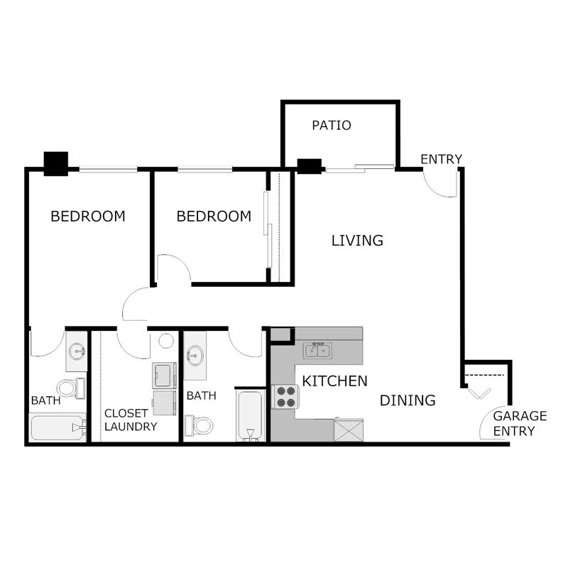 2 Bedrooms 2 Bathrooms Apartment for rent at Arbor Valley Apartments in Hartland, WI