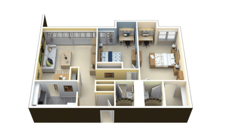 2 Bedrooms 2 Bathrooms Apartment for rent at Scio At The Medical District in Chicago, IL