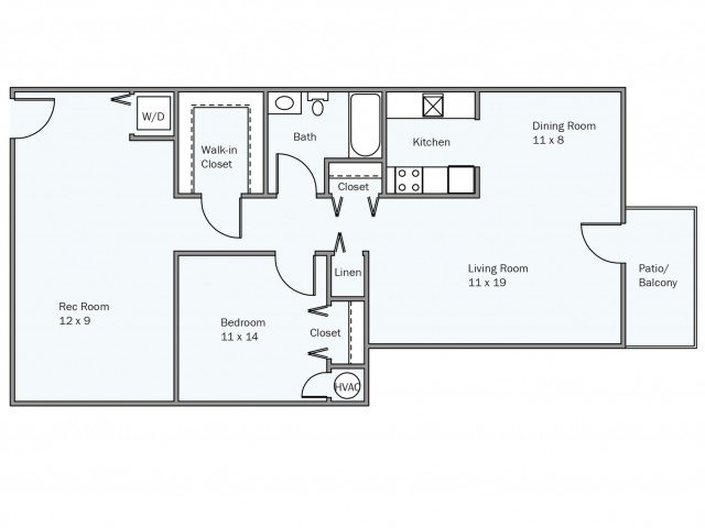 1 Bedroom 1 Bathroom Apartment for rent at University Square in Greenbelt, MD
