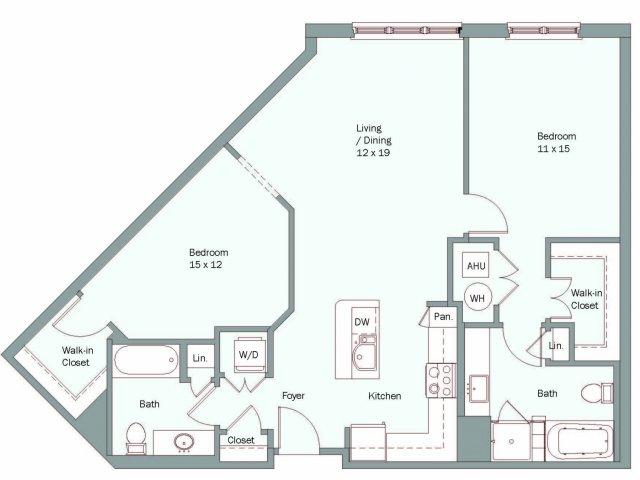 2 Bedrooms 2 Bathrooms Apartment for rent at The Falls At Flint Hill in Fairfax, VA