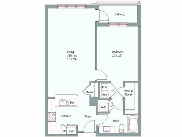 1 Bedroom 1 Bathroom Apartment for rent at The Falls At Flint Hill in Fairfax, VA